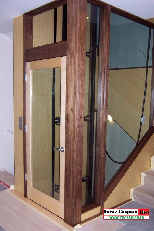 آسانسور خانگی نما چوب