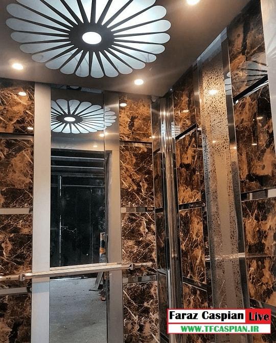 کابین آسانسور استیل mdf