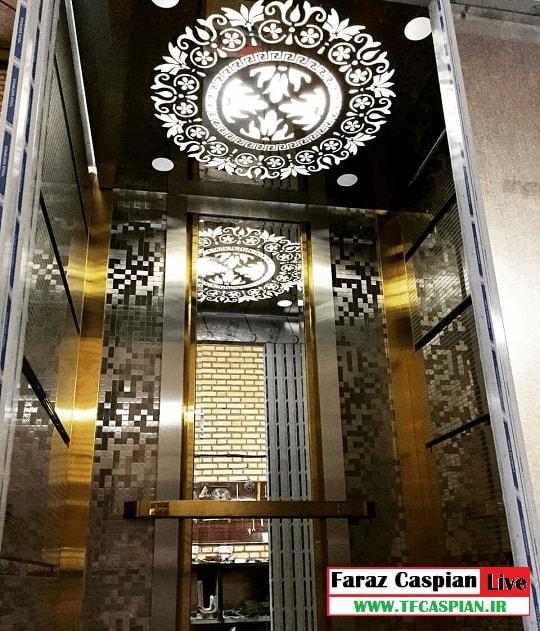 کابین آسانسور تمام استیل