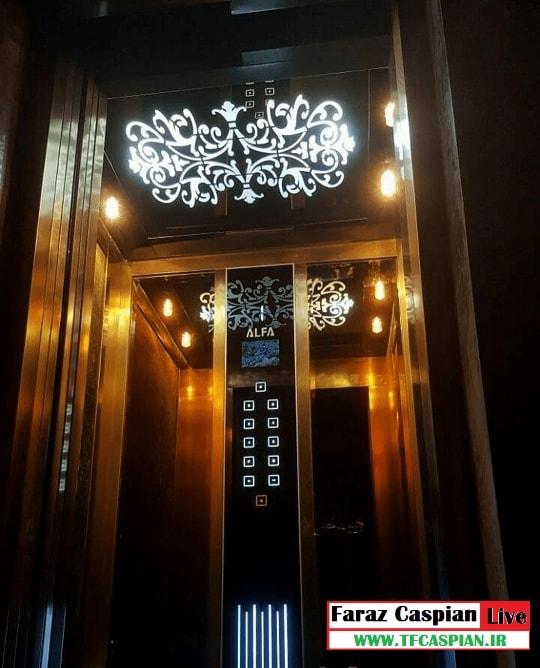 کابین استیل آسانسور