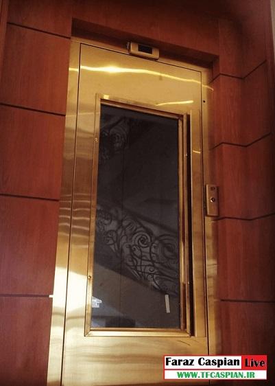 درب آسانسور طبقه شیشه ای