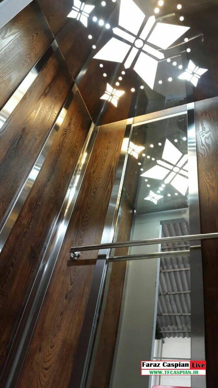 کابین آسانسور استیل ام دی اف