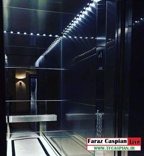 کابین تمام استیل آسانسور