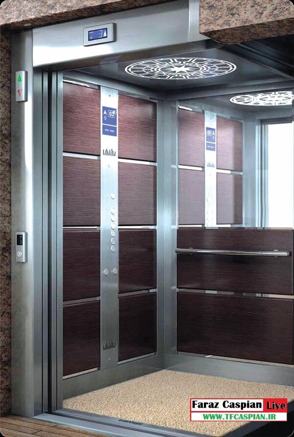 کابین آسانسور استیل طرح ترک