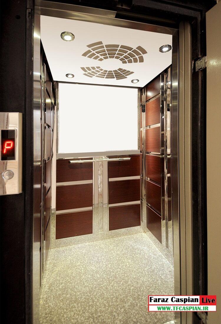 کابین آسانسور ام دی اف-استیل