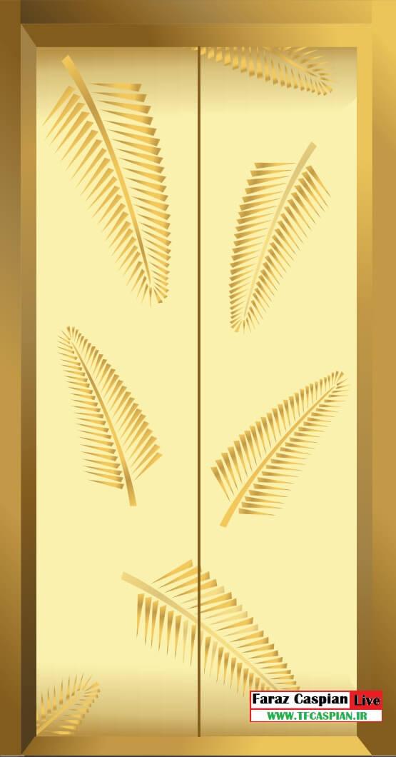 درب طبقه آسانسور استیل