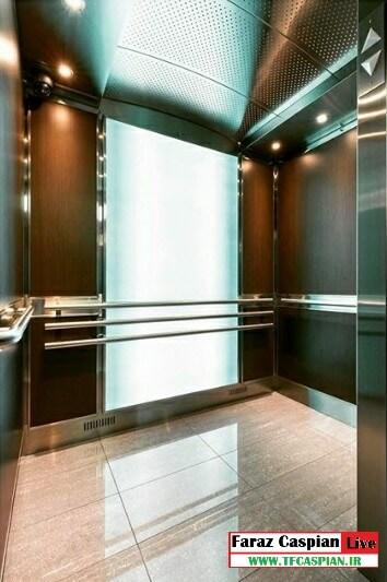 کابین آسانسور mdf استیل