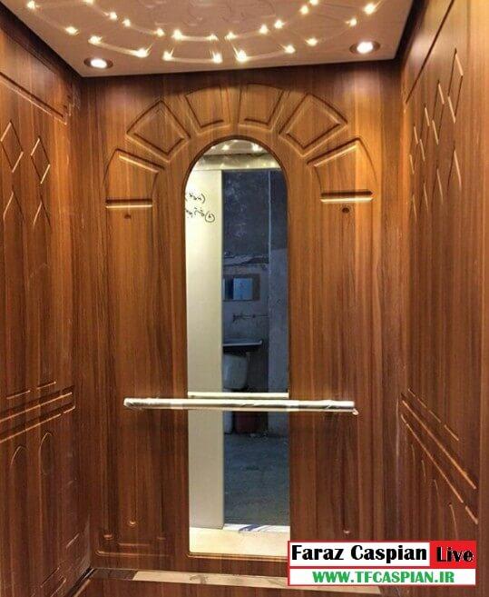 کابین آسانسور طرح چوب